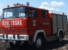 Kiégett egy autó Balástyán