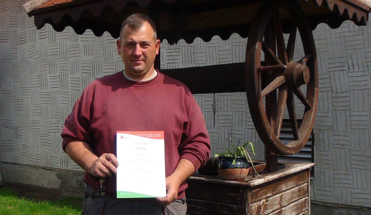 Török Sándor balástyai bádogos országos elismerést kapott