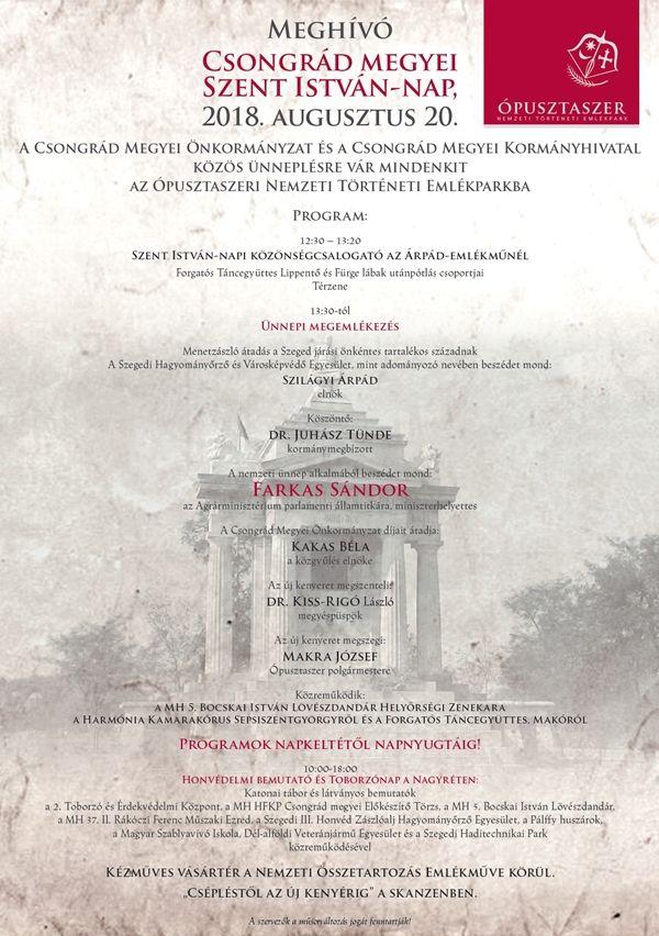 Szent István-nap augusztus 20-án az Ópusztaszeri Nemzeti Történeti Emlékparkban