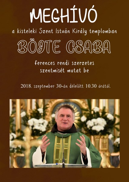 Böjte Csaba Kisteleken