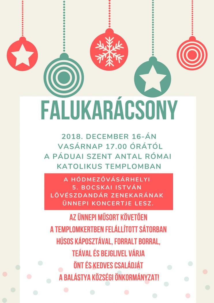 Falukarácsony karácsonyi koncerttel