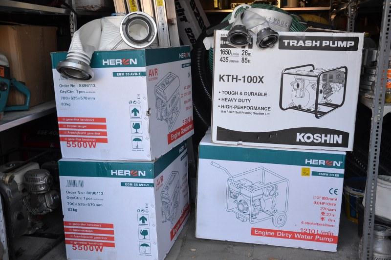 Áramfejlesztőket és szivattyúkat kapott a Balástya Község Önkéntes Tűzoltó Egyesület