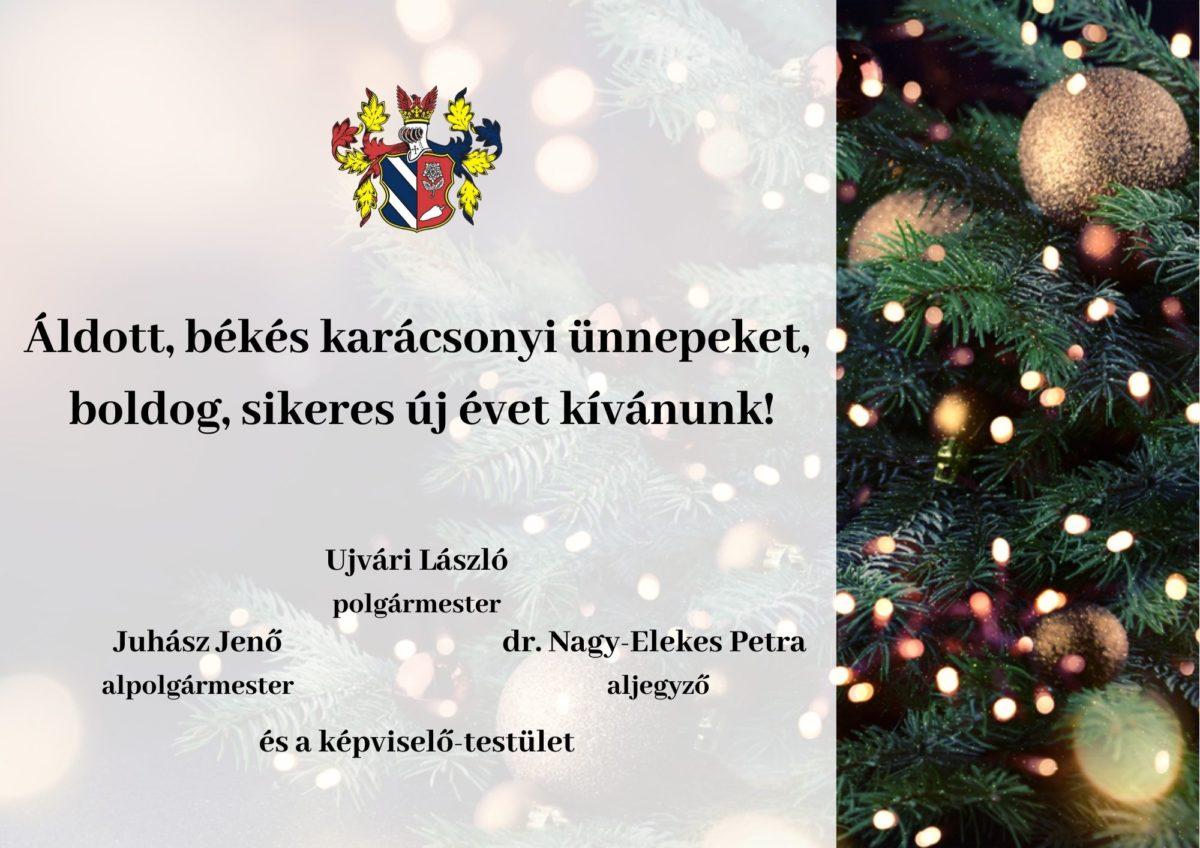 Áldott, békés karácsonyi ünnepeket, boldog, sikeres új évet kívánunk!